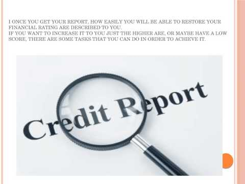 free credit report @ annualcreditreportfree.co.uk