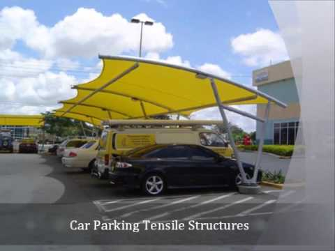 Car Parking Tensile Structures, polycarbonate shade structure manufacturers, gazebo tensile structures