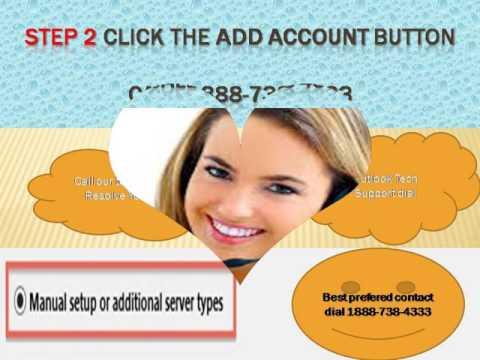 Outlook setup# window 2007 Call 1888-738-4333