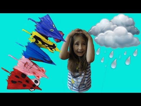 Learn Colors with Eva and Umbrellas | For Kids Children | Nursery Rhymes Songs