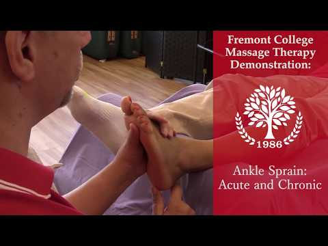 Treating an Ankle Sprain Using Massage Therapy Techniques - Part 1 of 2
