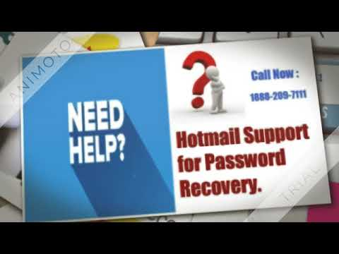 Hotmail Password Recovery Number 1888 209 7111