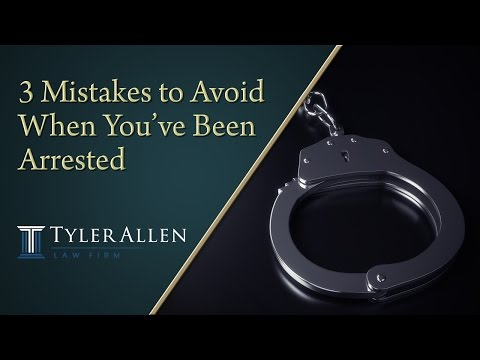 3 Mistakes to Avoid When You've Been Arrested | (602) 456-0545