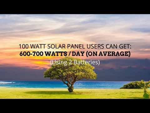 100 Watt Solar Panel and What It Powers