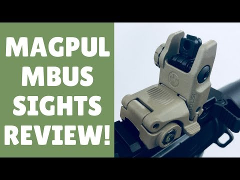 Review Of The Amazing Magpul MBUS Flip Up Sights