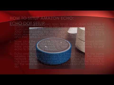 How To Setup Amazon Echo Support