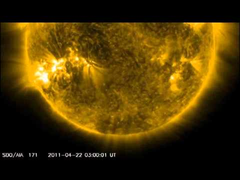 Solar activity is increasing with NOAA active regions 1195 and 1196: April 22nd, 2011.