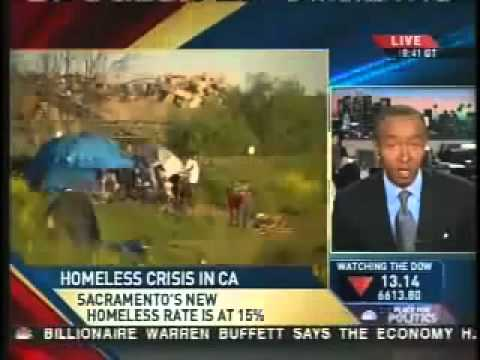 TENT CITY: government will send billions, no help for americans