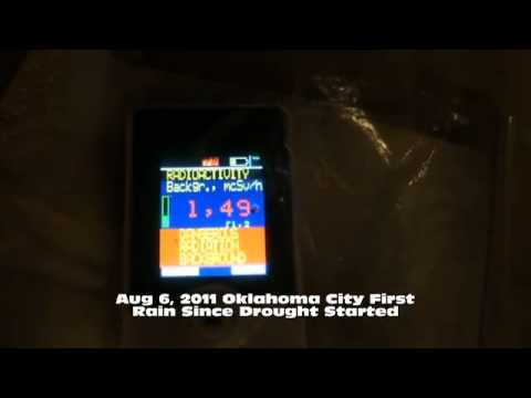 Oklahoma City hit with DANGEROUS RADIATION levels from Rain on Aug 6th 2011