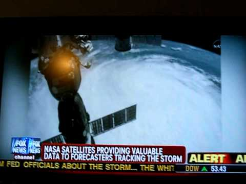UFO Filmed By Astronauts Flying Over Hurricane Irene 8-26-2011