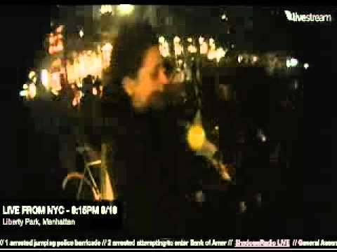 LIVE CAMERA / CAM LINK Wall Street Protest Here 9-19-2011 920pm Liberty Park Manhattan NYC