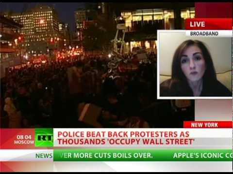 Wall Street Crackdown: Police beat back protesters, dozens arrested