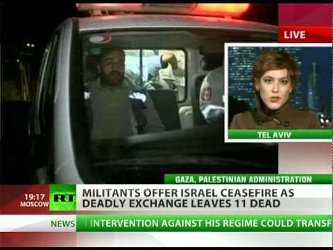 Violent Weekend: Air strikes kill 10 Palestinians, 1 Israeli