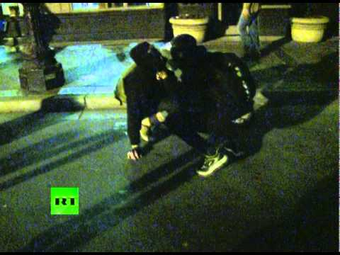 More RT footage: Riot cops tear gas Occupy Oakland strike