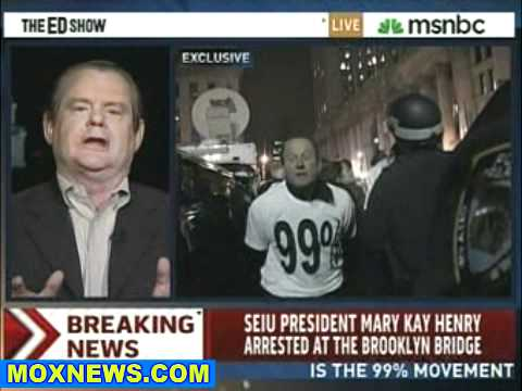 SEIU President Arrested At Occupy Brooklyn Bridge Protest