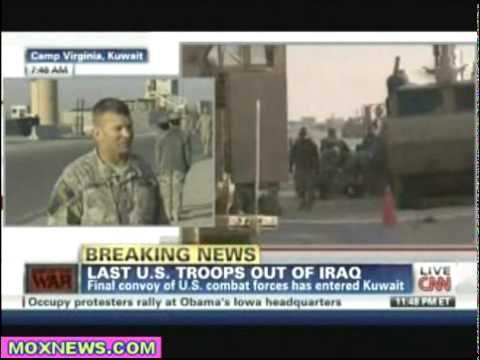 Last Truck Crosses The Border & They Lock The Gate! Final U.S. Combat Troops Leave Iraq pt.2