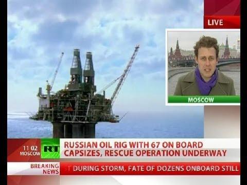 Russian oil rig sinks: 4 dead, 49 missing