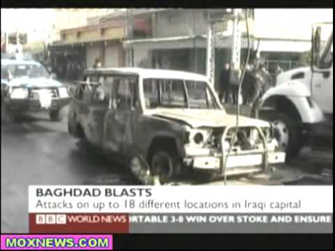 Iraq's Deadliest Day This Year! Four Car Bombs & 10 Roadside Bombs Detonate Throughout Baghdad
