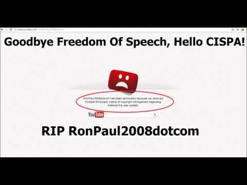 YouTube Removes RonPaul2008dotcom- CENSORSHIP IN ACTION!