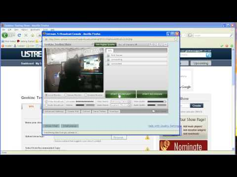 Ustream.tv How to Sign up / Use broadcast console