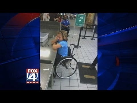 "TSA Stop ""Wheelchair Bomber"" At Dallas Fort Worth Airport!"