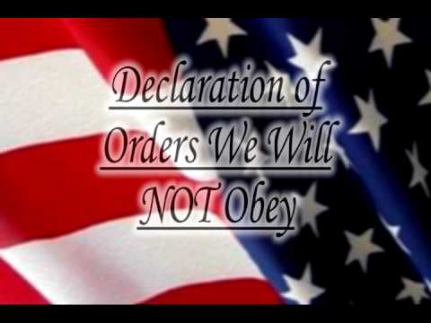 Oath Keepers Declaration of Orders We Will NOT Obey