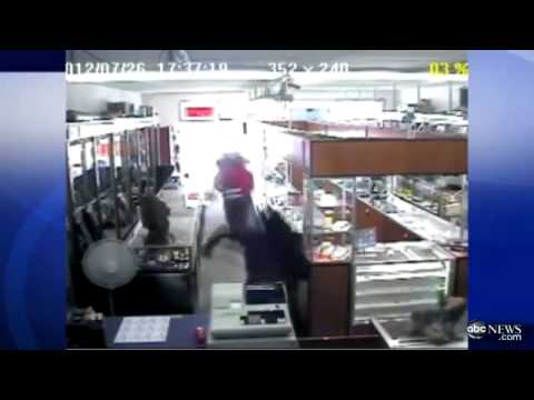 65 YEAR OLD WOMEN vs. 5 THUGS.  POW POW RAW FOOTAGE