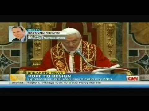 Pope Benedict Resigns Pope Benedict XVI to Retire on Feb 28 2013 | Vatican confirms Resignation