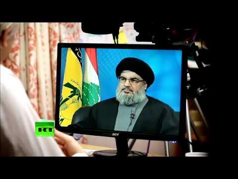 """Julian Assange interviews Hassan Nasrallah """"Full Interview, a MUST watch""""!!"""