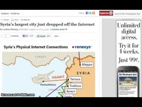 Kill Switch? Syria's Largest City of Aleppo Loses All Internet Communications!