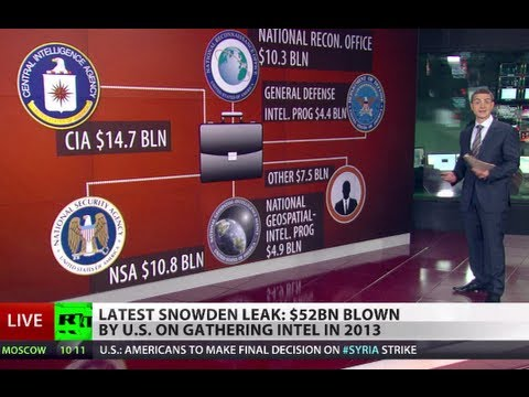 Black Budget: Snowden reveals US spends $52bn on secret programs
