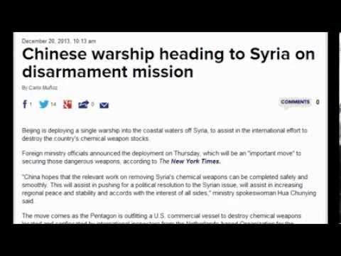 Chinese warship heading to Syria. December 22, 2013
