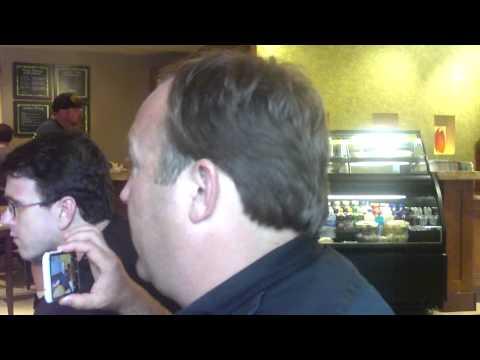 USWGO Brian Hill films Alex Jones during interview with Stewart Rhodes