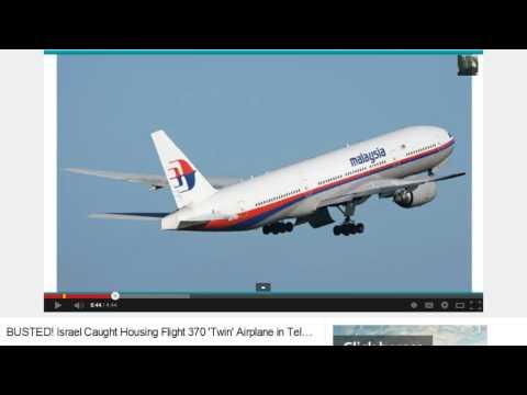 Israel Caught Housing 'Identical Twin of Flight 370' In Tel Aviv!