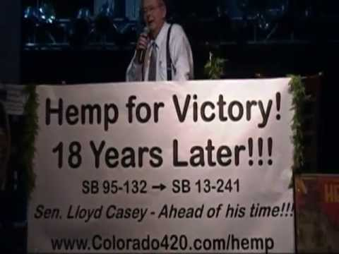 HISTORY OF HEMP LEGALIZATION! COLORADO Sen. Lloyd Casey