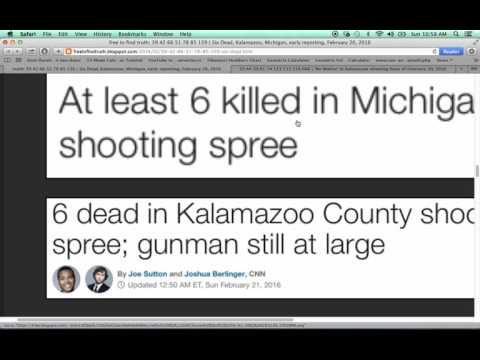 Kalamazoo, Michigan Shooting Hoax of February 21, 2016 Exposed