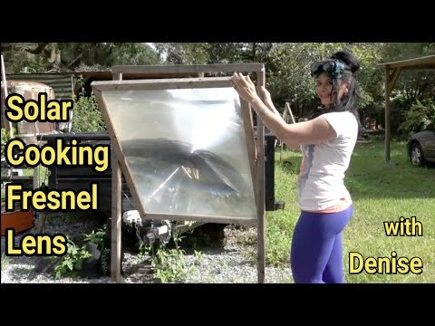 Solar Cooking with Fresnel Lens Denise Rojas 30 second eggs HD