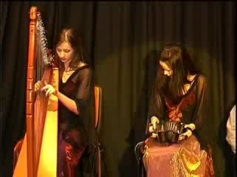 Edel Fox (concertina) and Shauna Davey (harp)