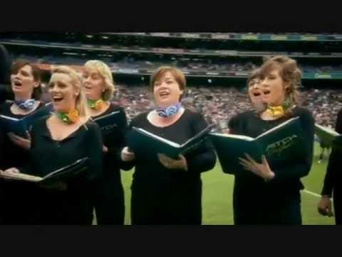 The Pitch Perfect Choir singing the team County songs in Croke Park Sept 2011