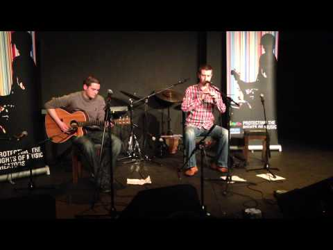 Enda Seery Whistle and John Byrne Guitar at IMRO Showcase 2013