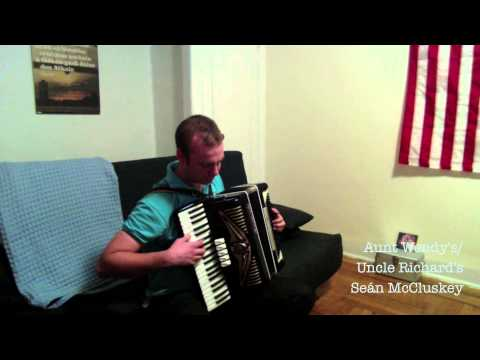 Sean McCluskey plays new original Irish reels on piano accordion