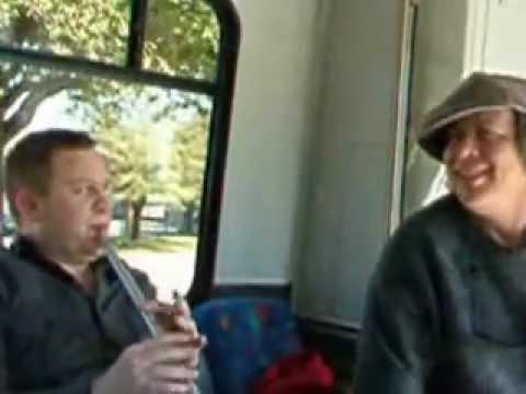 Cajon - Jammin' on the bus at NTIF with Grada