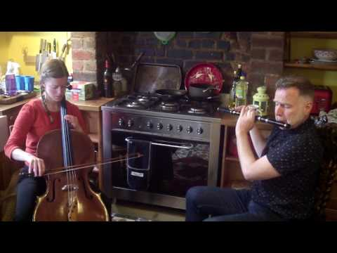 Liz Hanks Cello & Michael Walsh Flute: Tribute to Peadar O Donnell Rehearsal