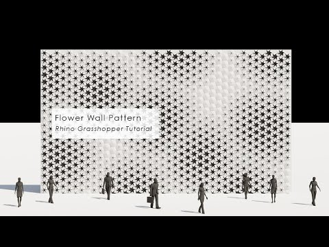 Flower Wall Pattern Rhino Grasshopper Tutorial