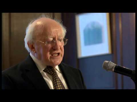 President Michael D. Higgins attends a reception hosted by the American Irish Historical Society