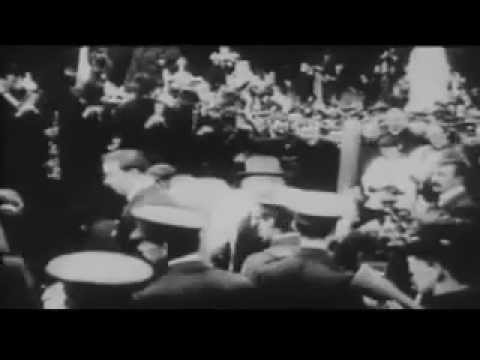 Patrick Pearse' Graveside Oration of Jeremiah O'Donovan Rossa (Actual Footage of Funeral 1915)