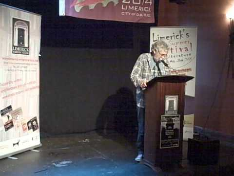 Eddie Stack reading at The Aug 'On the Nail' Literary Gathering, Limerick
