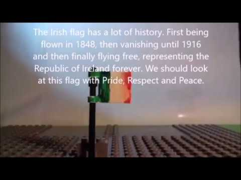 A short history of the Irish Flag from 1848 to 1922 in Lego