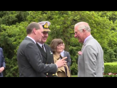 HRH Prince of Wales visit to the United Nations Training School Ireland