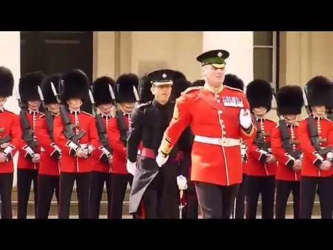 Inspection .1 st  Battalion Irish Guards